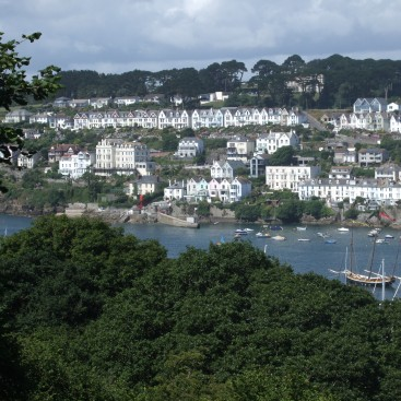 View from Hall Wall towards Fowey